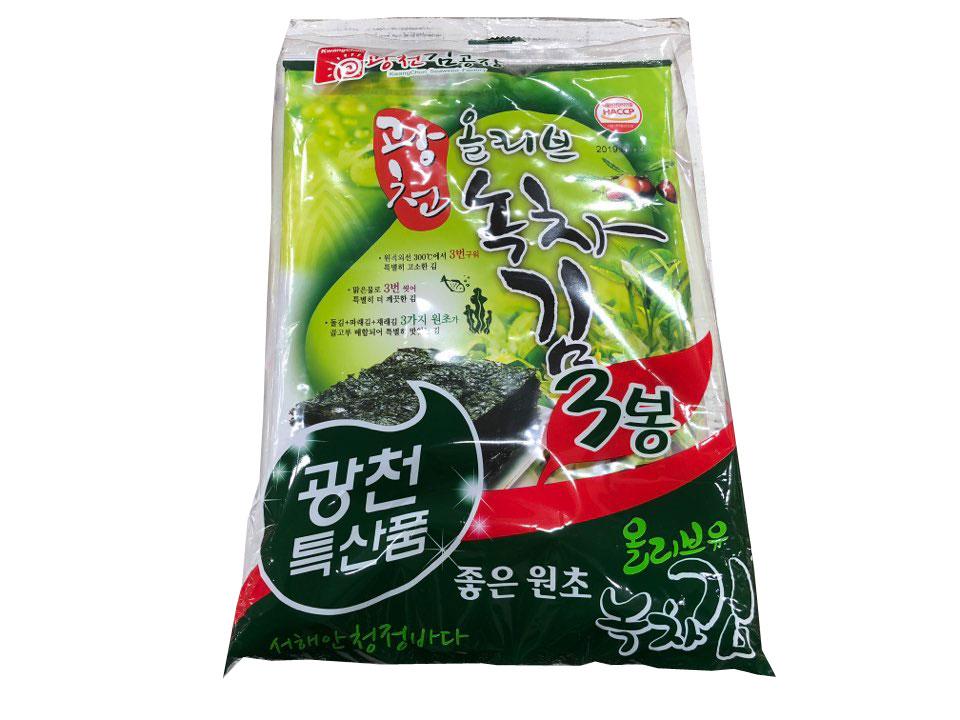 광천올리브녹차김-3봉