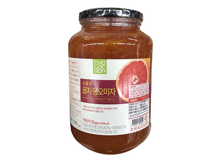 초록원)꿀자몽오미자2kg