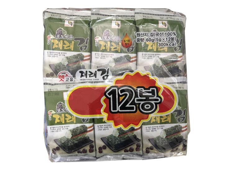 서원)햇고을포도재래김12봉(5g*12)