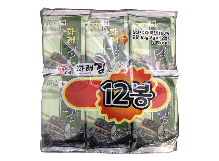 서원)햇고을파래김12봉(5g*12)