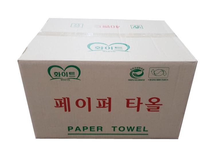 화이트)페이퍼타올100매*40밴드-box
