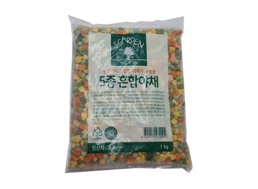 세미원)혼합야채5종믹스1kg.