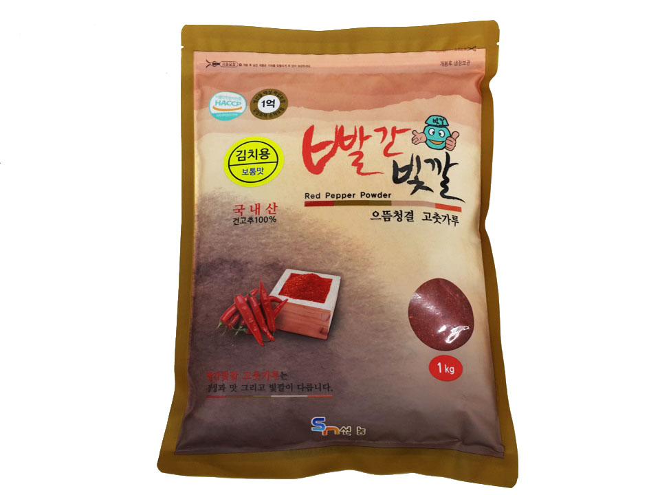빨간빛깔고추가루1kg(국산,김치용)