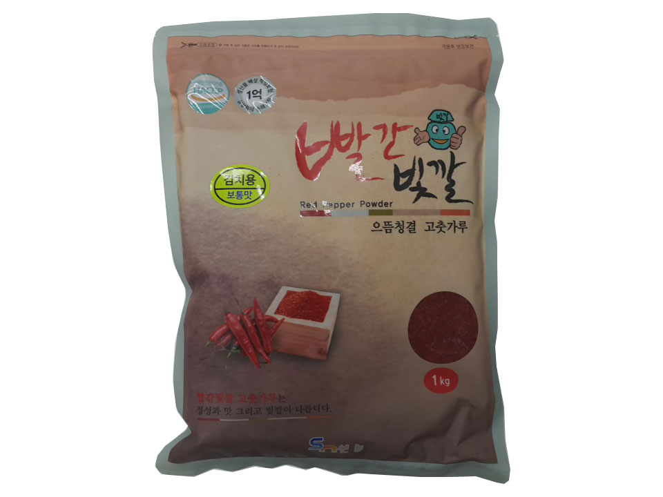 빨간빛깔고추가루1kg(중국산,김치용)