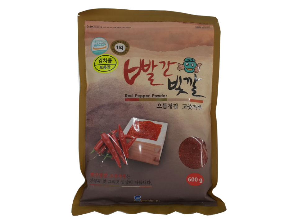 빨간빛깔고추가루보통맛600g(중국,김치)