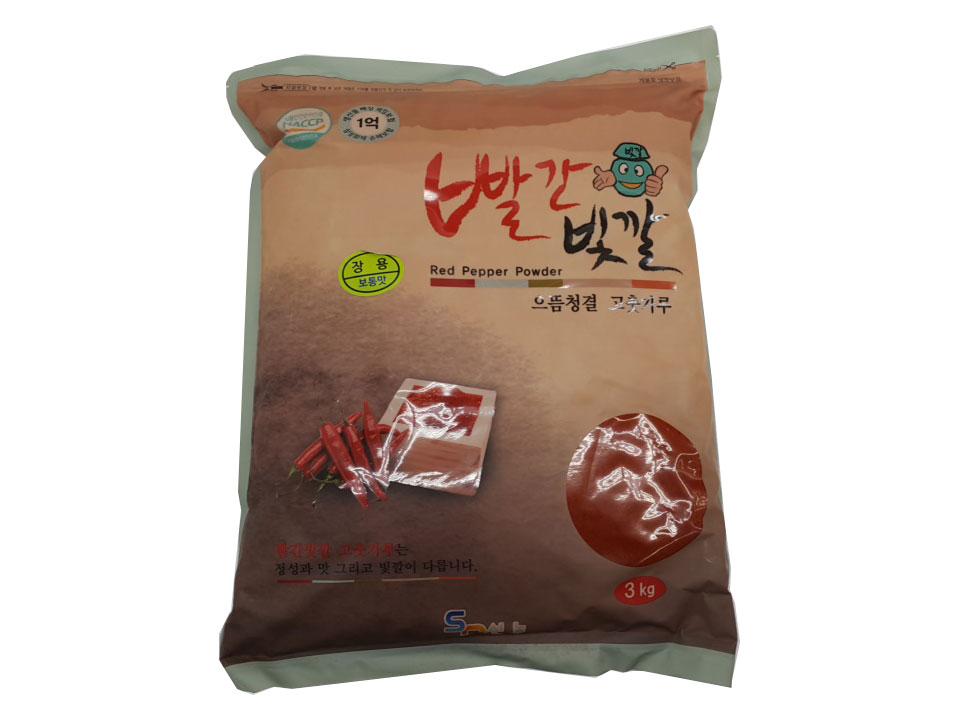 빨간빛깔고추가루3kg(중국산,장용)