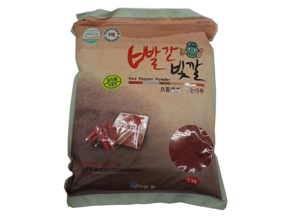 빨간빛깔고추가루3kg(중국산,김치용)
