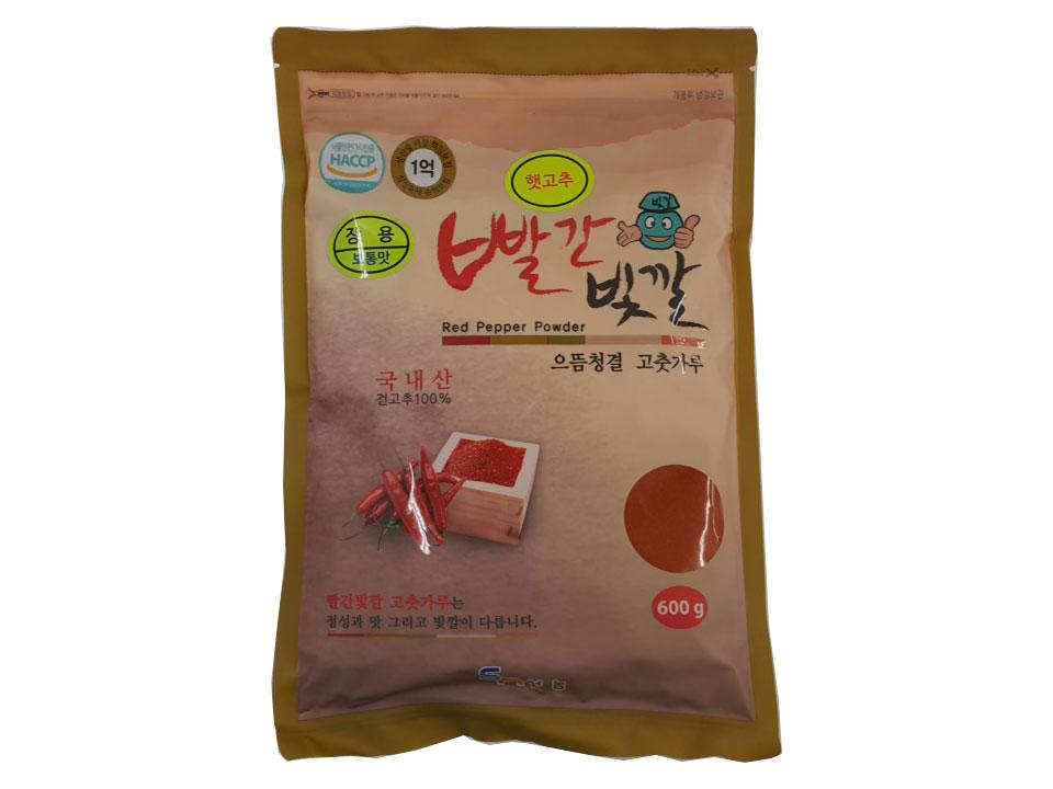 빨간빛깔고추가루보통맛600g(국산,장용)