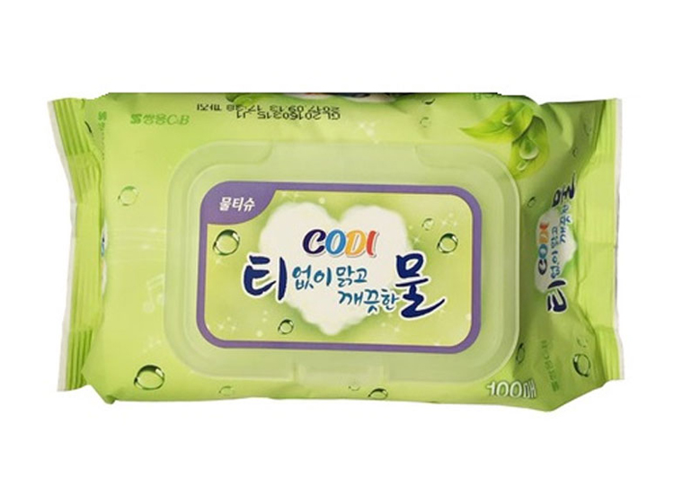 코디)티없이맑고깨끗한물티슈100매(캡)