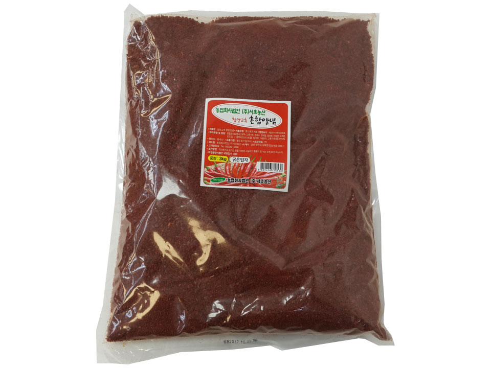 참맛혼합양념3kg(굵은,김치용)
