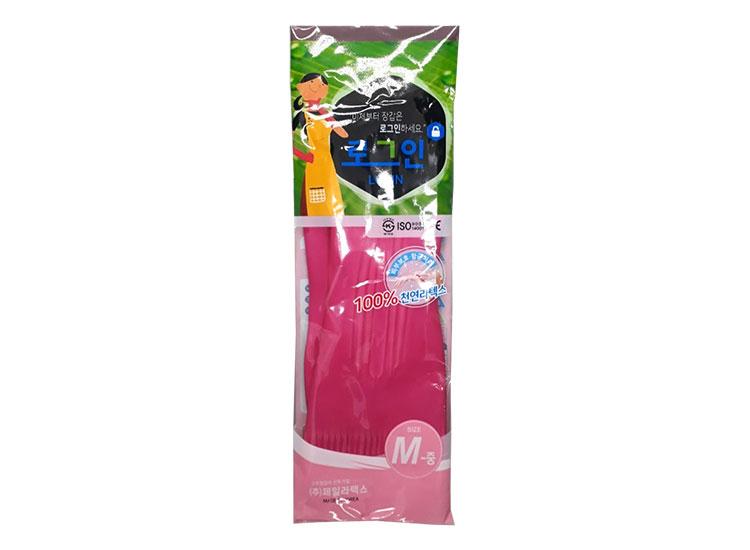 로그인)고무장갑(핑크)-M