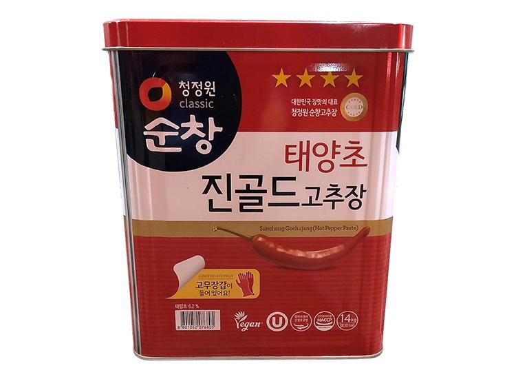 청정원)순창진골드고추장14kg 고무장갑