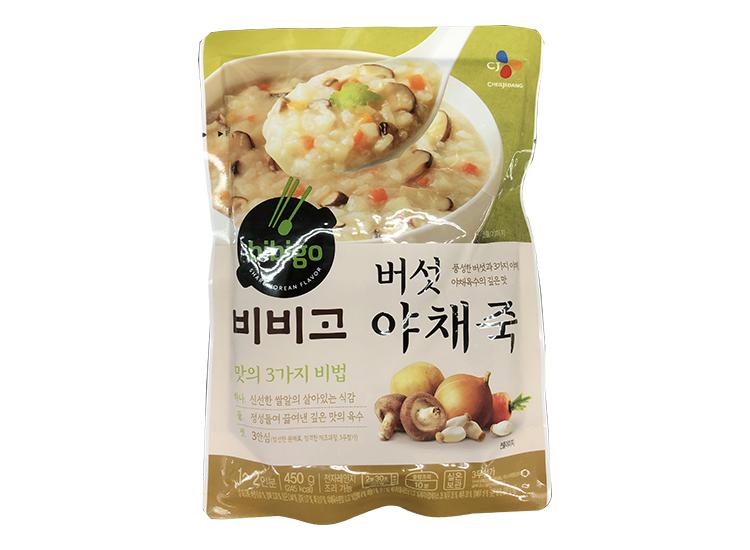 백설)비비고버섯야채죽450g