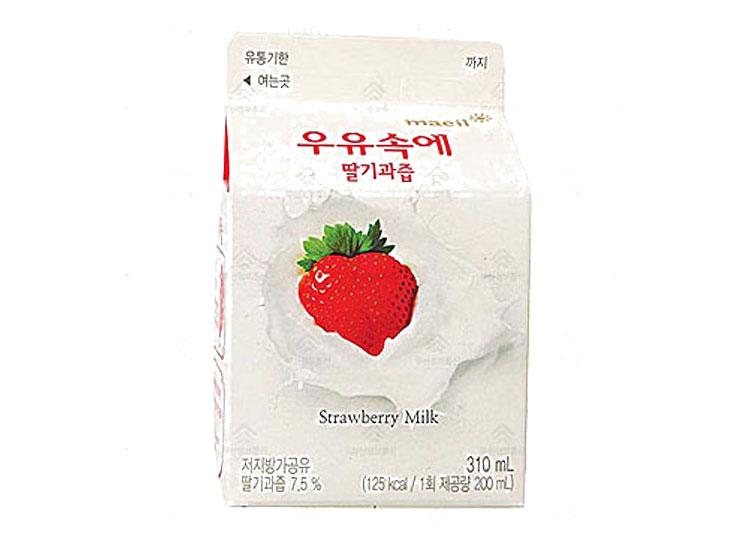 매일)우유속에딸기310ml